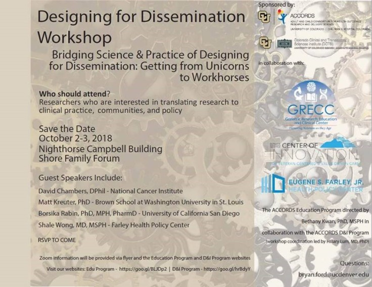 ACCORDS Designing for Dissemination Workshop 10.2018