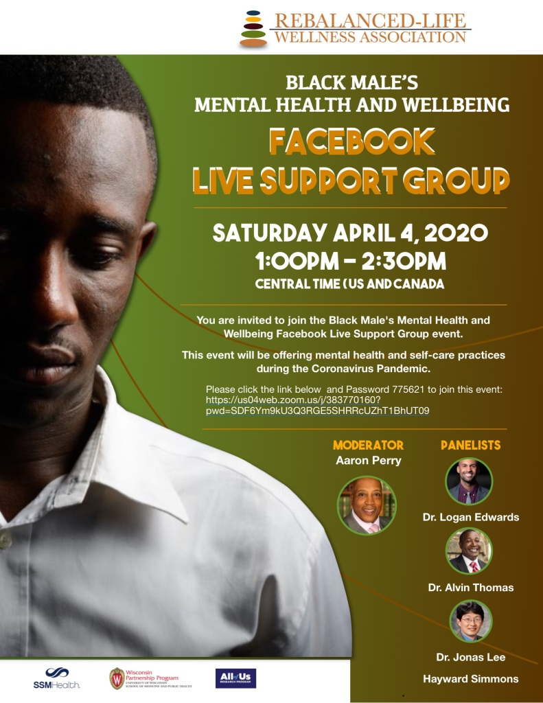 Panel Series on Black Men's Well-being During Pandemic poster